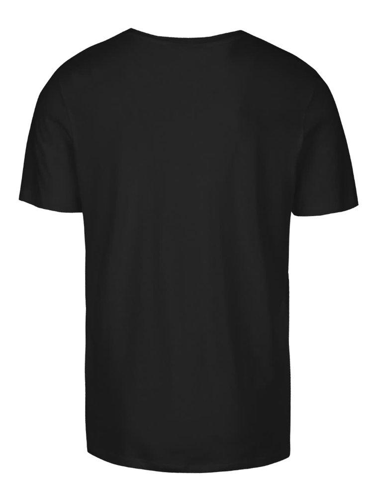 Černé triko s potiskem Jack & Jones Weston