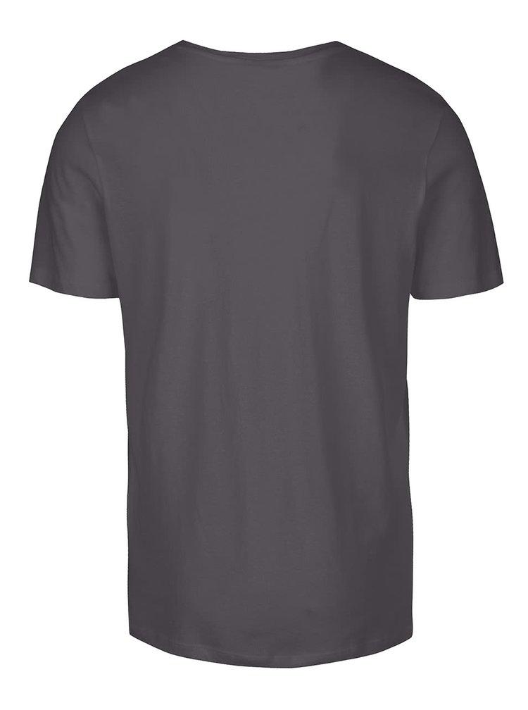 Šedé triko s potiskem Jack & Jones Roli