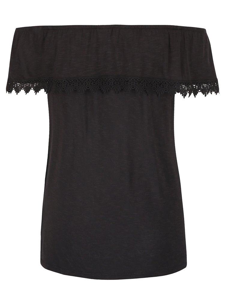 Čierne tričko s odhalenými ramenami Dorothy Perkins