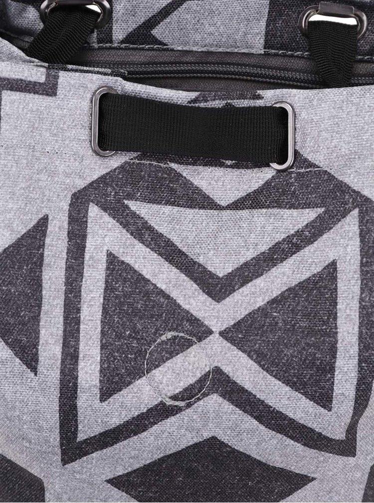 Černo-šedý unisex vzorovaný batoh Burton Parcel