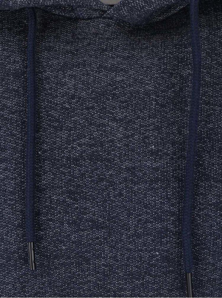 Tmavě modrá žíhaná mikina s kapucí Jack & Jones Win