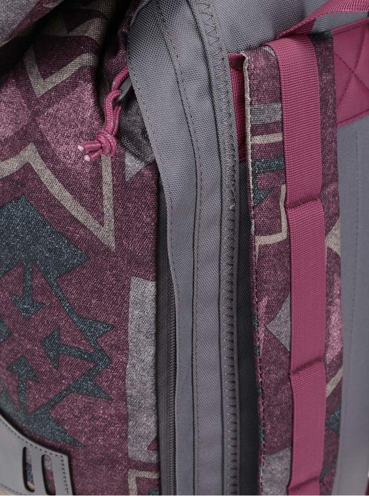 Vínový unisex vzorovaný batoh Burton Tinder