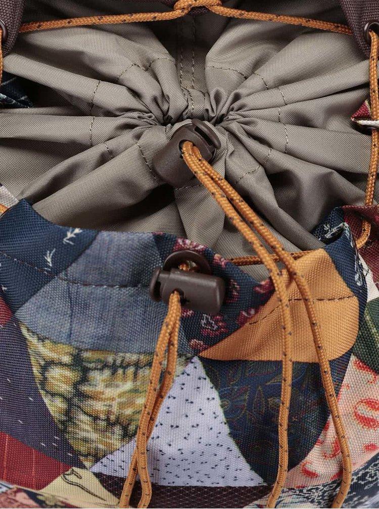 Hnědý unisex batoh s barevným optickým vzorem Burton Tinder