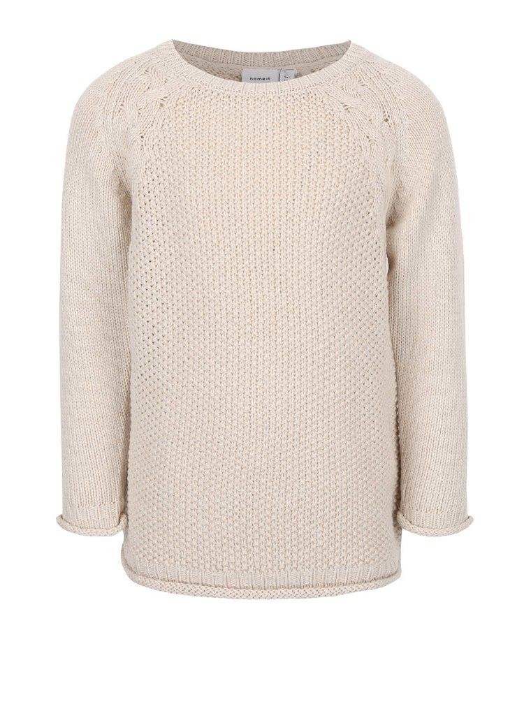 Béžový dievčenský sveter name it Barina