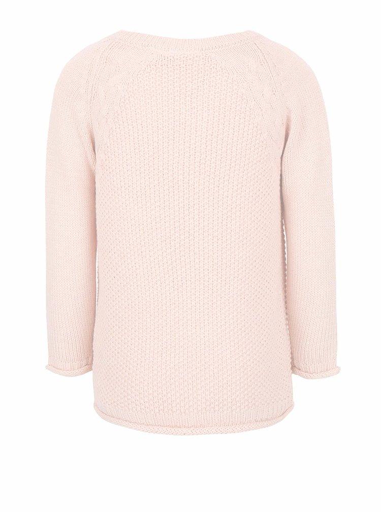Svetloružový dievčenský sveter name it Barina