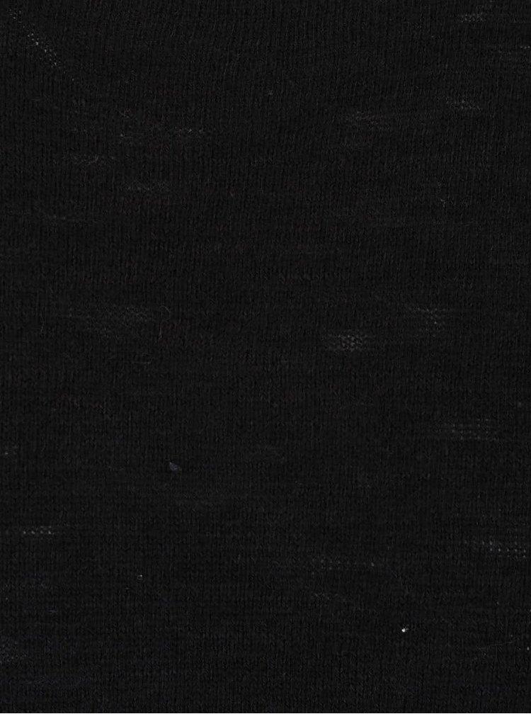 Černý svetr Jack & Jones Slub