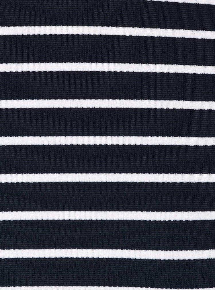 Tmavomodré pruhované tričko s rifľovými detailmi VILA Tinny