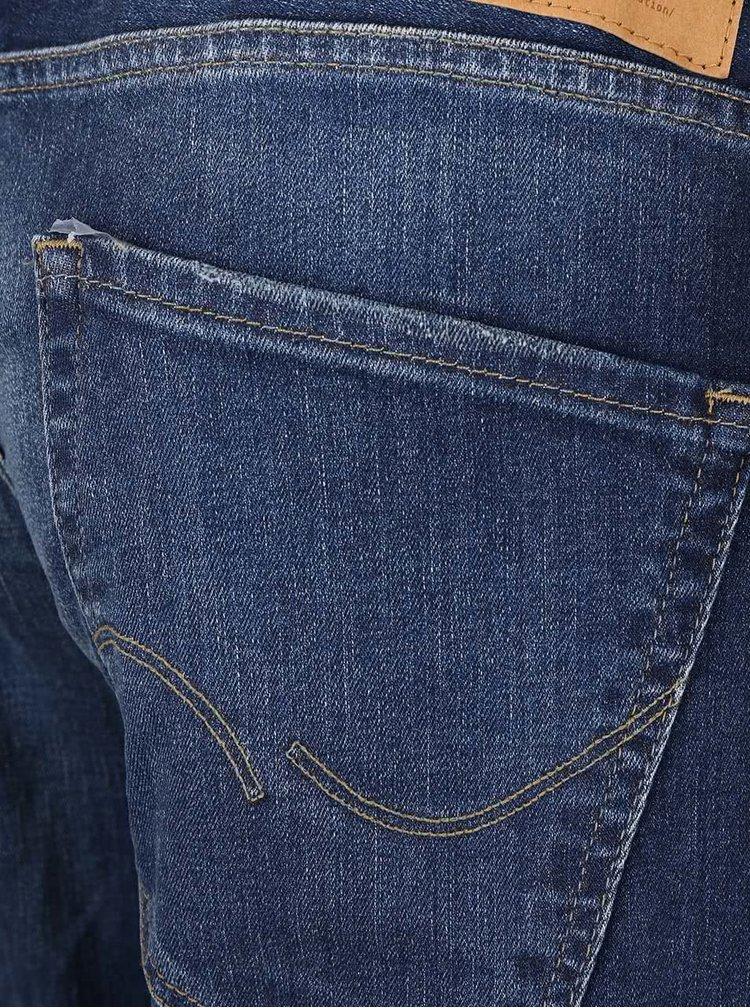 Modré džíny s vyšisovaným efektem Jack & Jones Tim