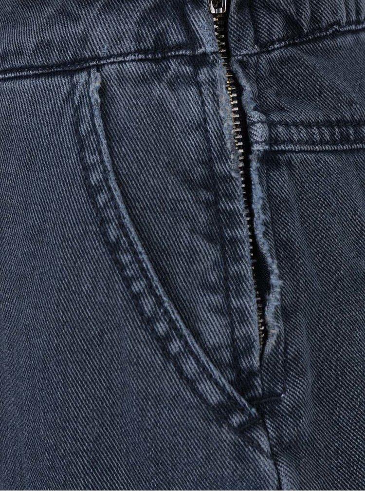 Tmavě šedé džínové šaty s laclem VILA Setta