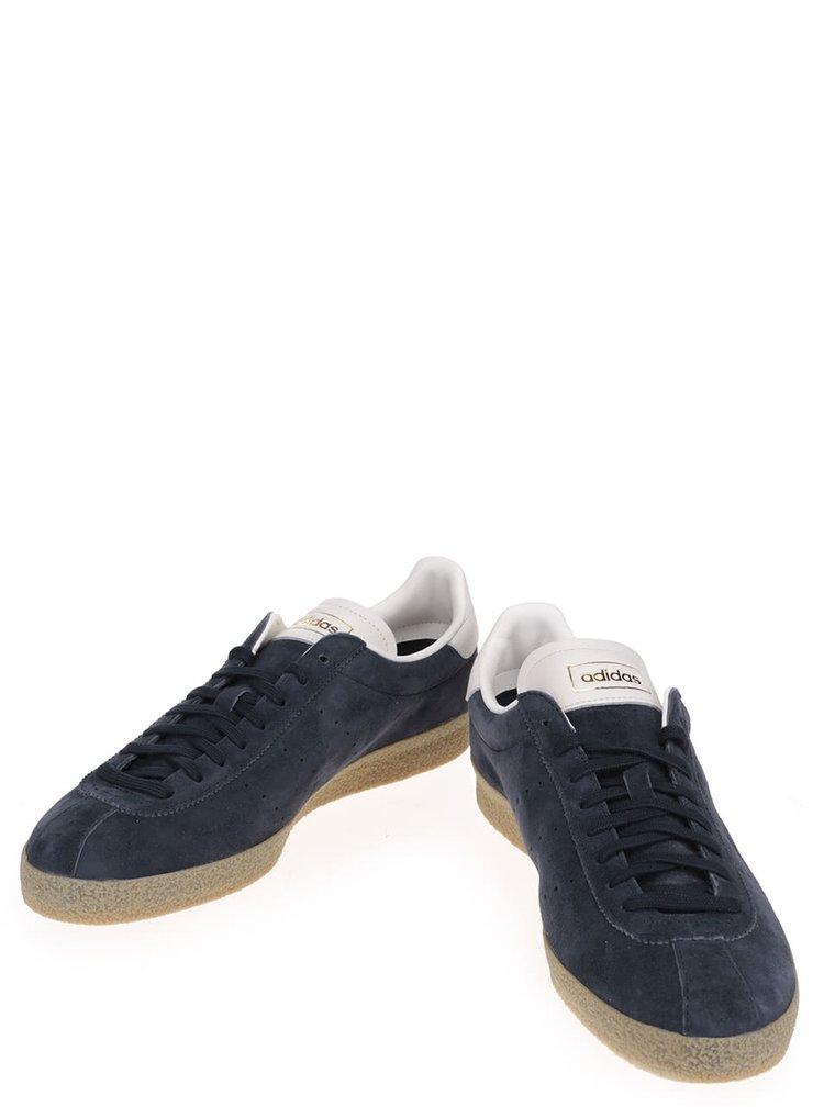 Tmavomodré pánske semišové tenisky adidas Originals Topanga Clean