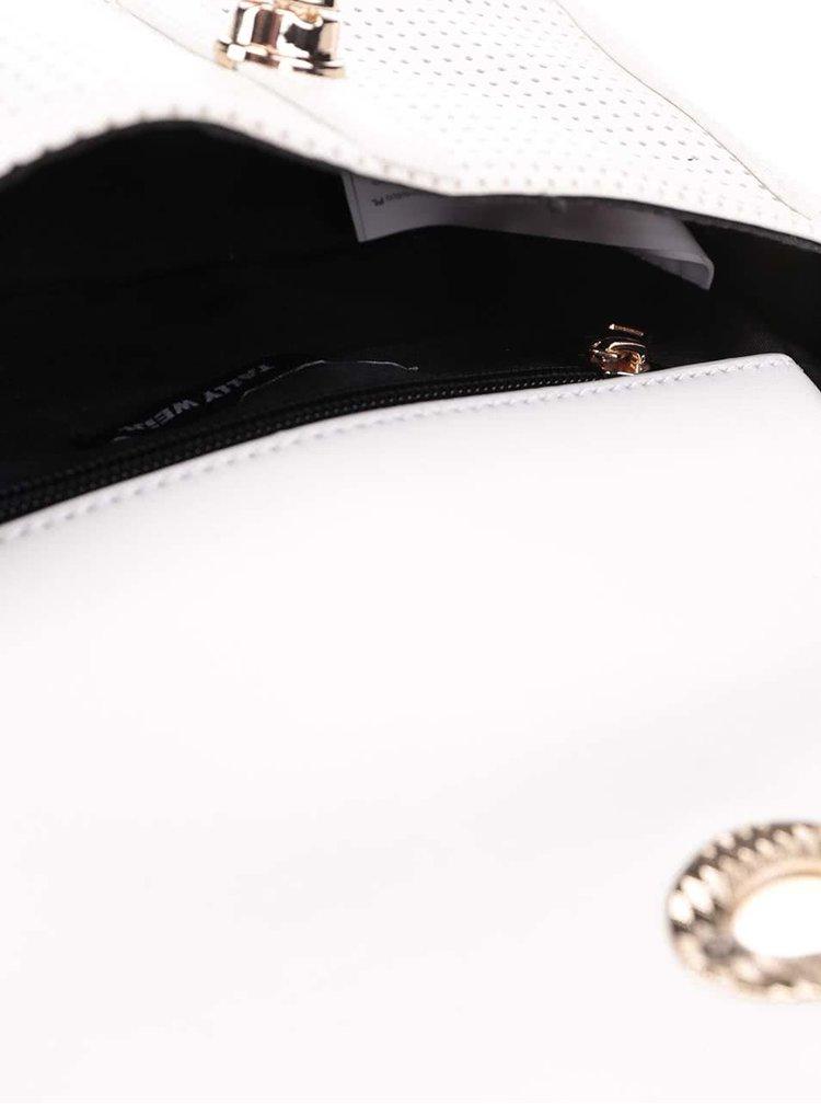 Krémová crossbody kabelka s retiazkou a detailmi v zlatej farbe TALLY WEiJL