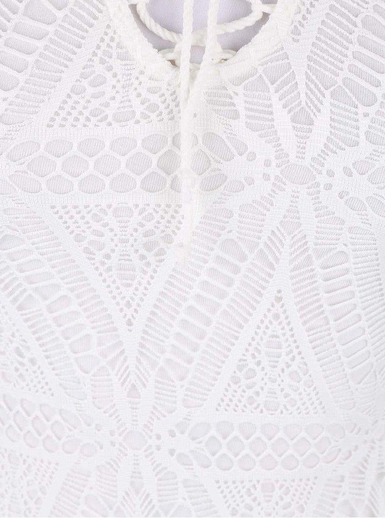 Biele čipkované maxi šaty TALLY WEiJL