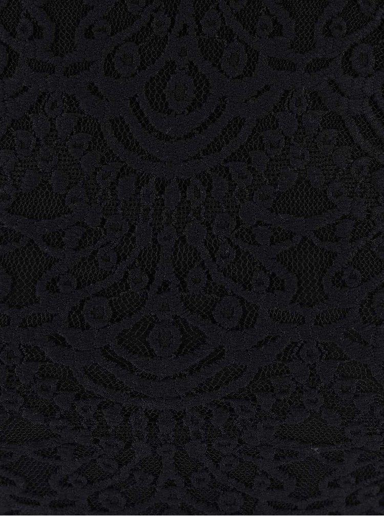 Čierne čipkované šaty TALLY WEiJL