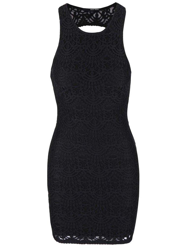 Černé krajkované šaty TALLY WEiJL