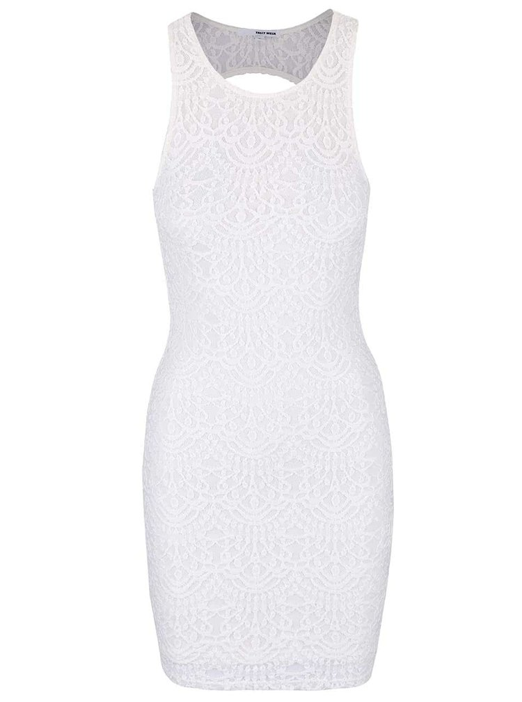 Biele čipkované šaty TALLY WEiJL