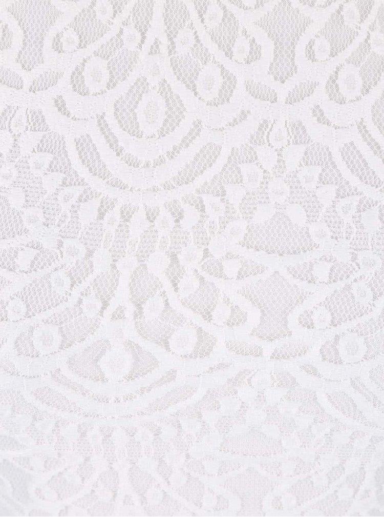 Bílé krajkované šaty TALLY WEiJL