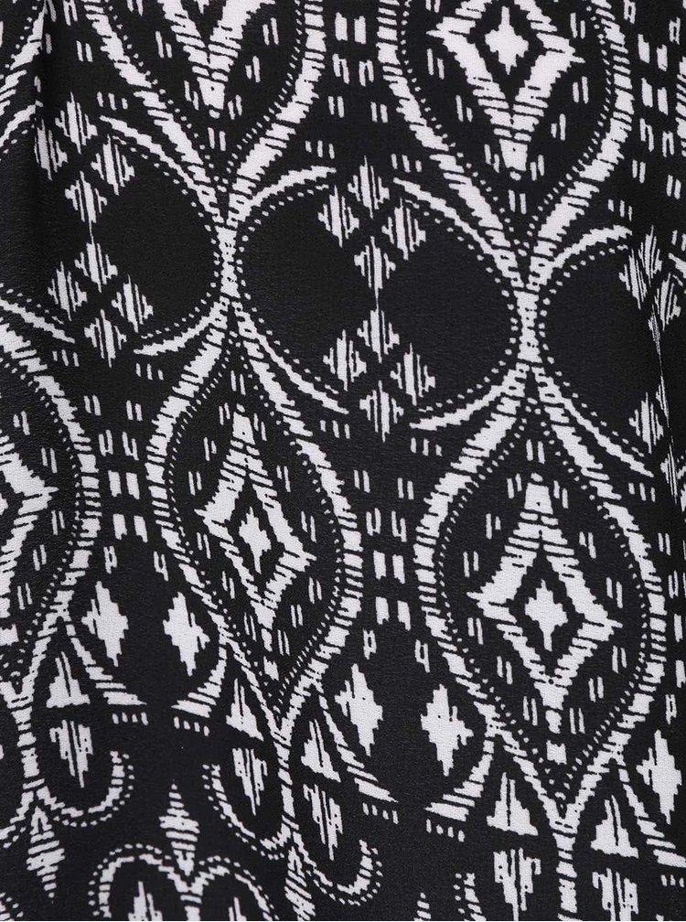 Bluză neagră cu alb TALLY WEiJL cu umeri goi