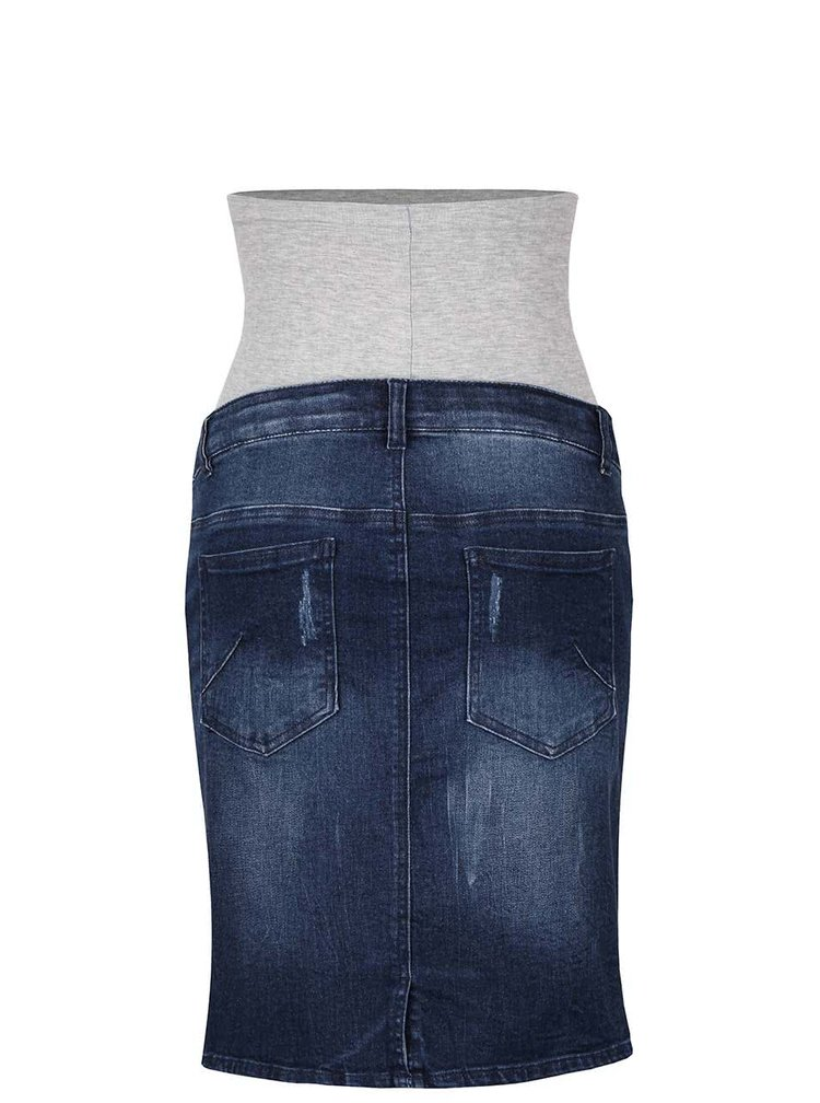 Modrá rifľová tehotenská sukňa Mama.licious Frey