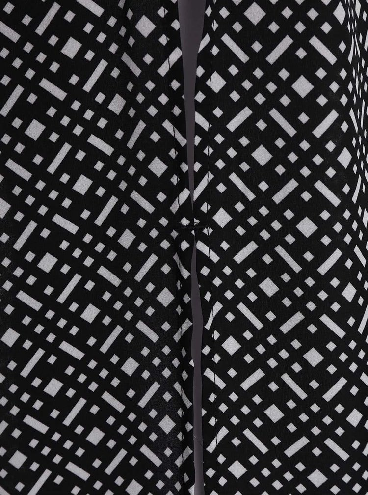 Černo-bílá delší košile bez rukávů TALLY WEiJL