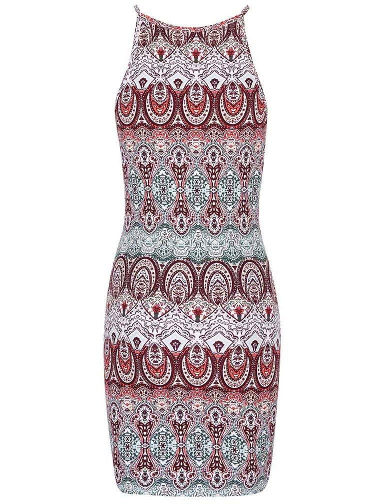 Vínové vzorované šaty TALLY WEiJL