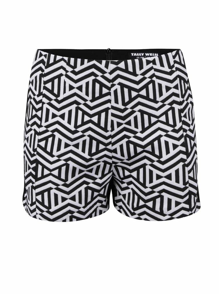 Pantaloni scurți TALLY WEiJL cu model geometric