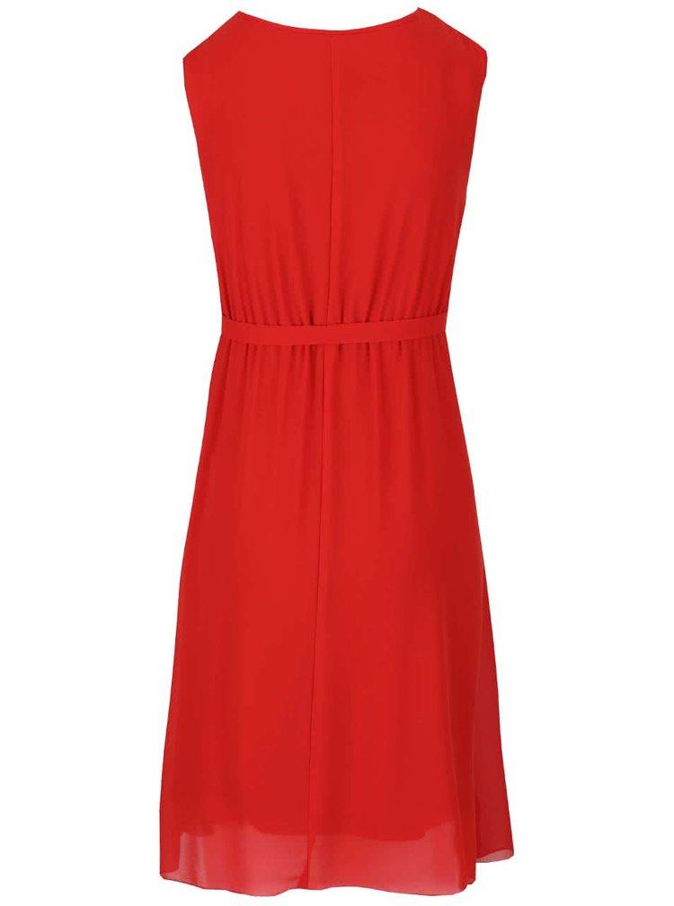 Červené těhotenské šaty s véčkovým výstřihem Mama.licious Calla