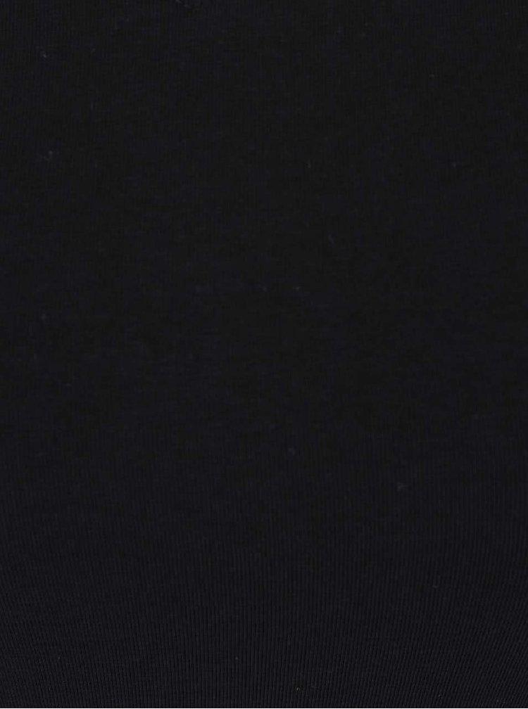Tricou negru TALLY WEiJL Star cu decolteu en-coeur amplu