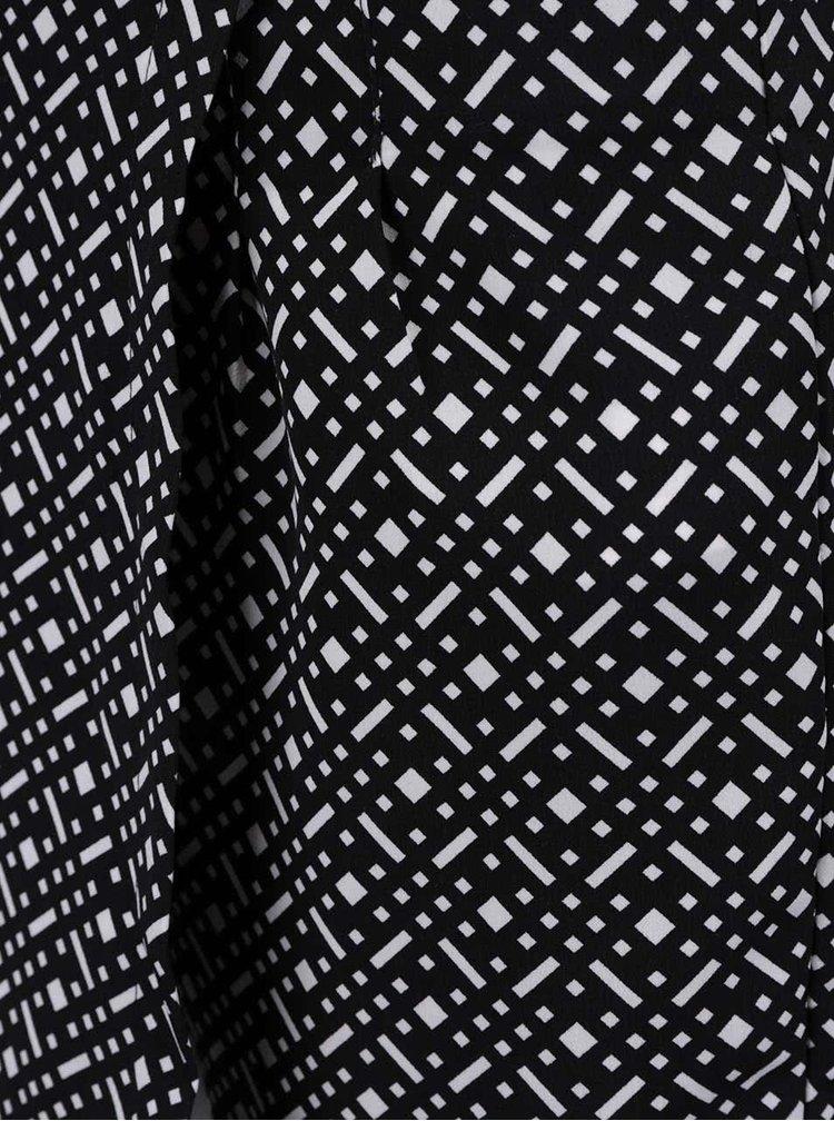 Čierno-biele zavinovacie kraťasy so vzorom TALLY WEiJL