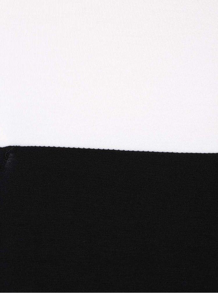 Rochie maxi alb-negru TALLY WEiJL cu decolteu pe un umăr