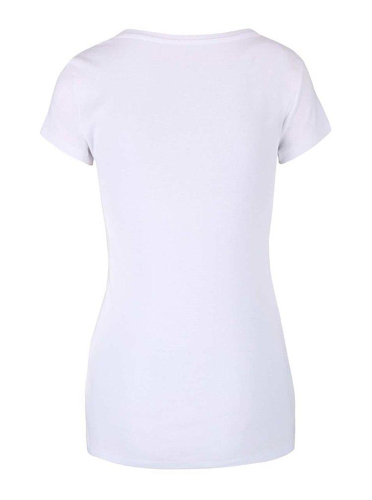 Bílé basic tričko s kulatým výstřihem TALLY WEiJL Tadalo