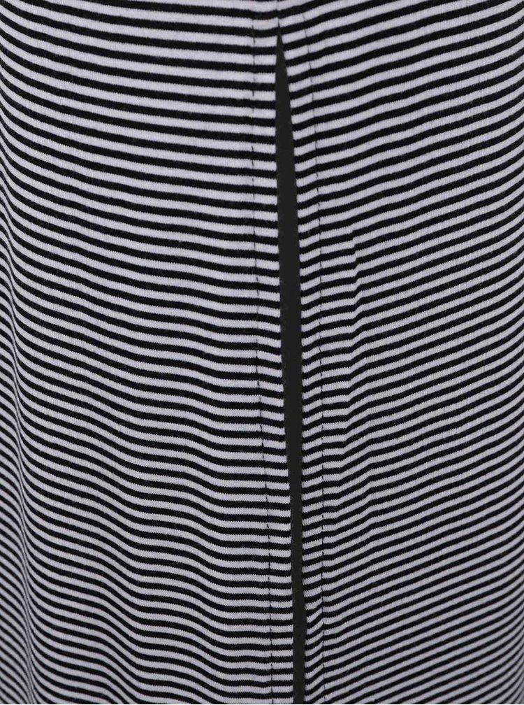 Černo-bílá dlouhá sukně s pruhy a rozparky TALLY WEiJL