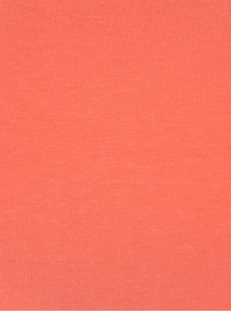 Koralové tričko s krátkym rukávom TALLY WEiJL Star