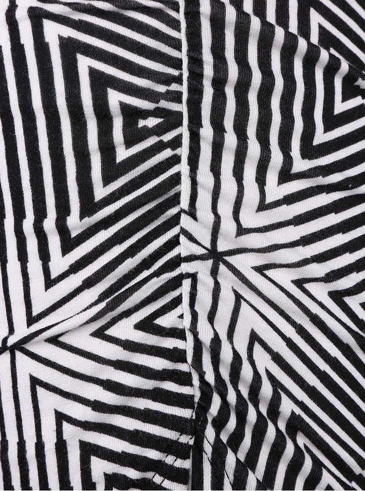 Bielo-čierne vzorované asymetrické šaty TALLY WEiJL