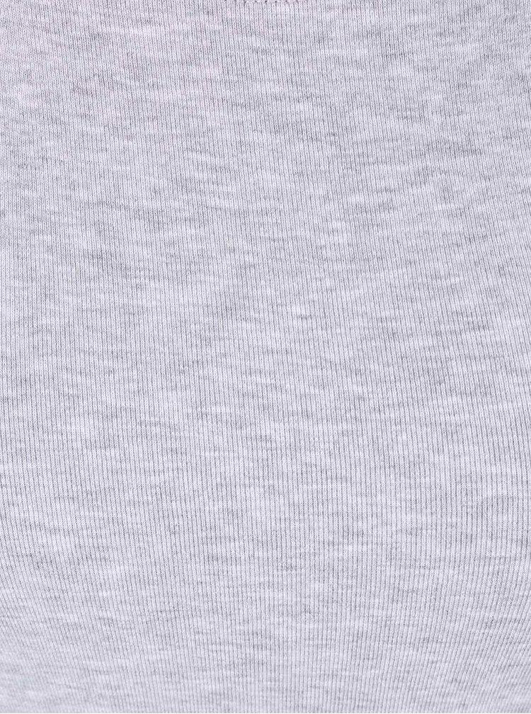Šedé žíhané tričko s kulatým výstřihem TALLY WEiJL Adalo