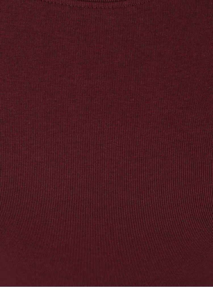 Vínové tričko s kulatým výstřihem TALLY WEiJL Adalo