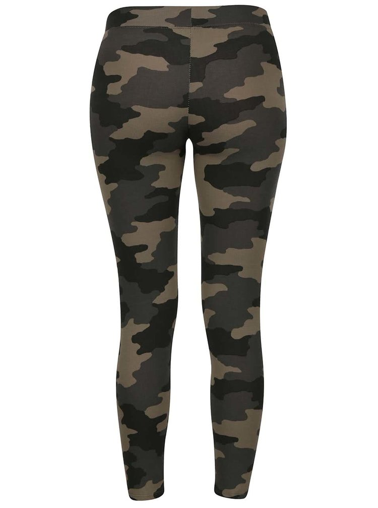 Leggings verzi TALLY WEiJL model camuflaj
