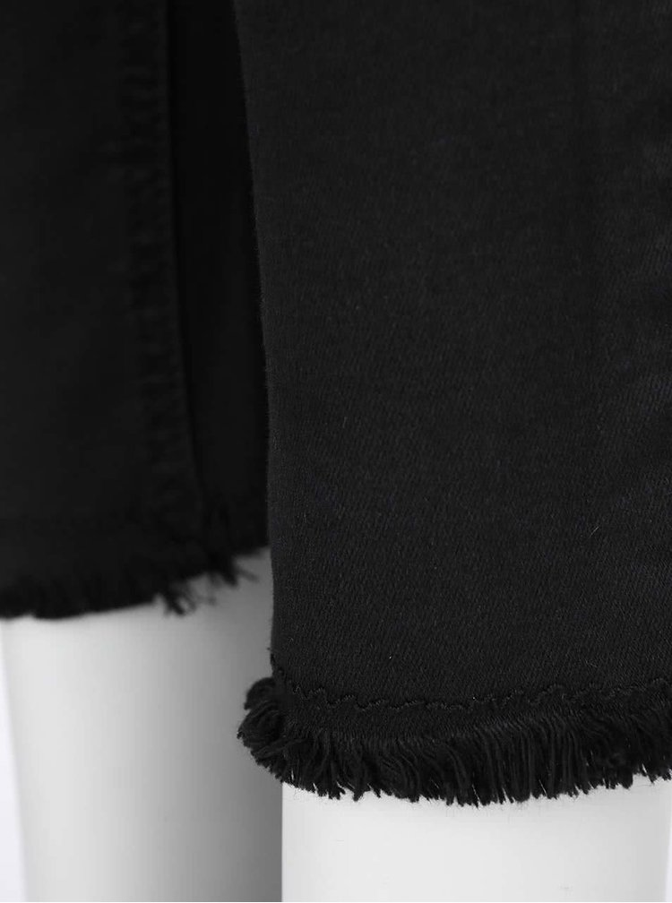 Černé elastické džíny s potrhaným efektem TALLY WEiJL
