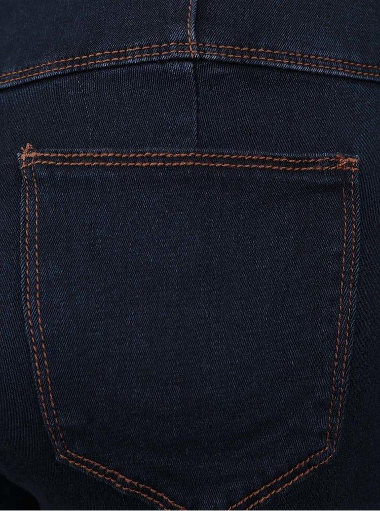 Pantaloni scurți bleumarin din denim TALLY WEiJL cu talie înaltă