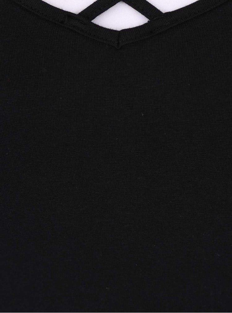 Čierne tielko s pásikmi TALLY WEiJL