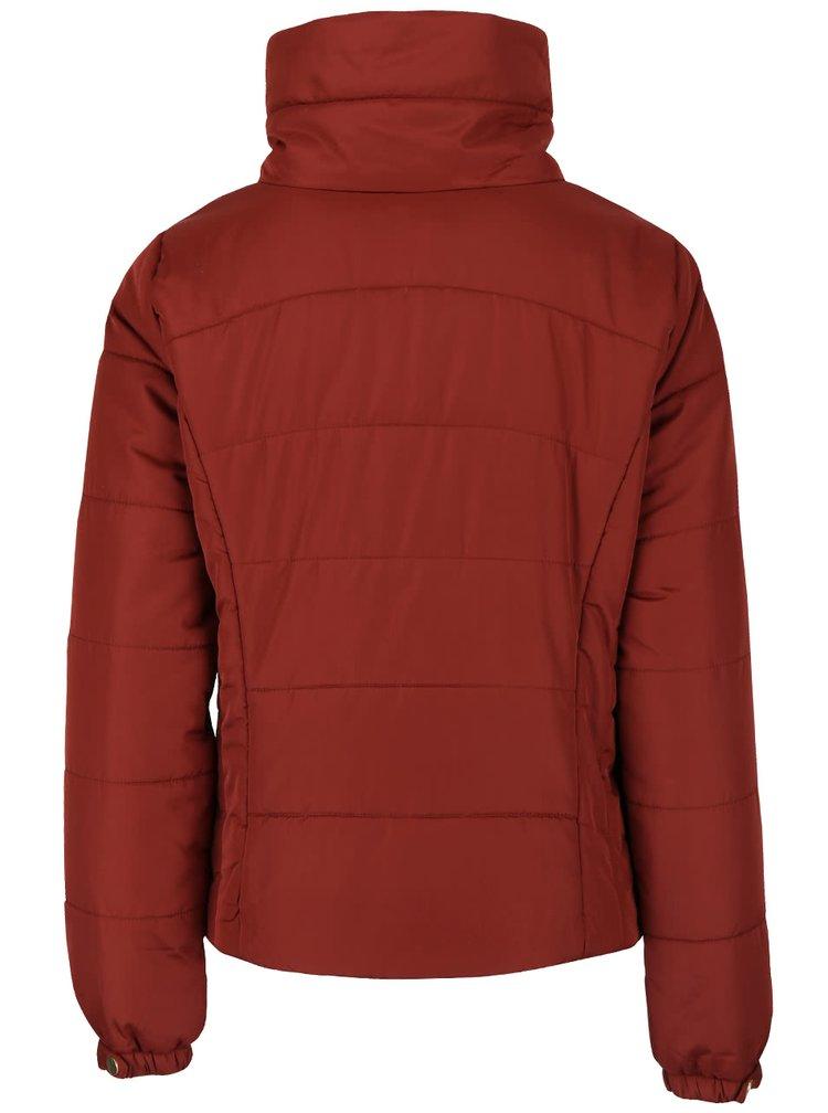 Tehlová prešívaná bunda s vysokým golierom VERO MODA Papette