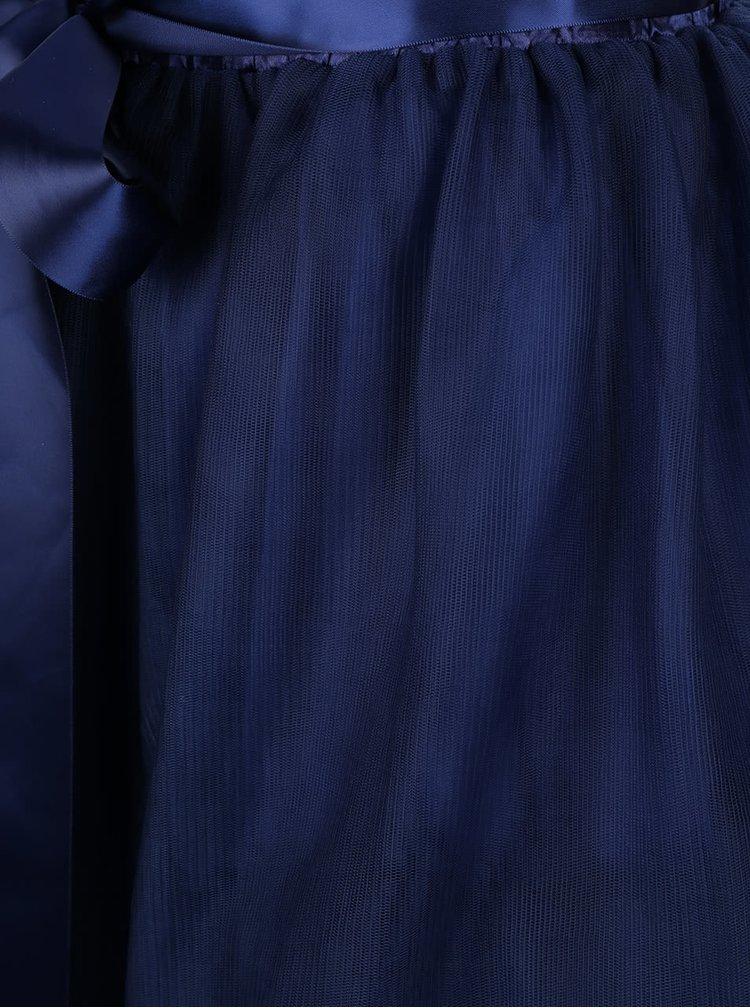 Tmavě modrá sukně se stuhou v pase Apricot
