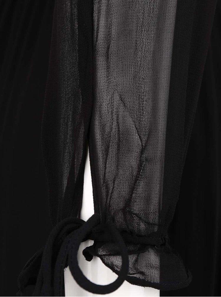 Čierne maxišaty s dlhým rukávom VERO MODA Kadash