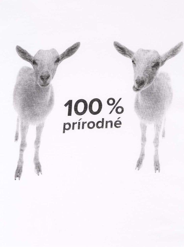 Biele dámske tričko ZOOT Originál 100 % prírodné kozy