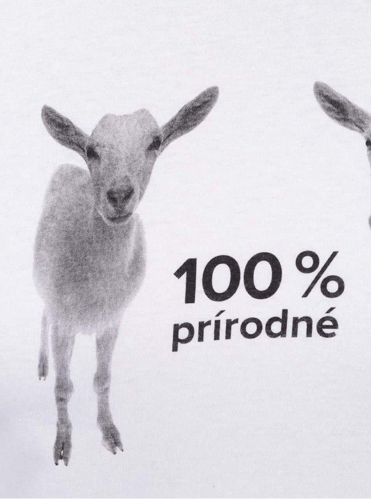 Bílé dámské tričko ZOOT Originál 100 % prírodné kozy