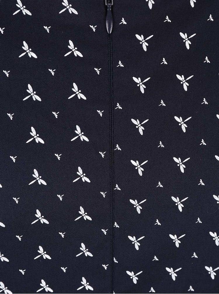 Rochie albastră cu imprimeu Apricot