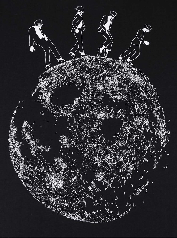 Černé dámské tričko ZOOT Originál Moonwalk