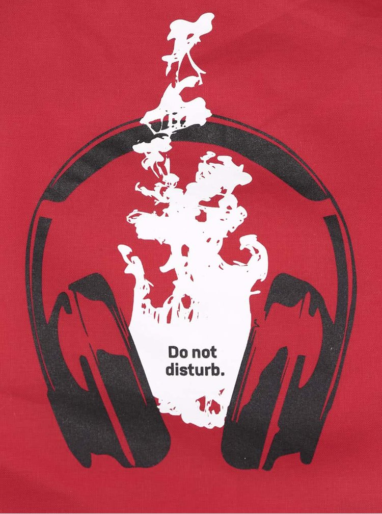 Červený vak s potlačou ZOOT Originál Do Not Disturb
