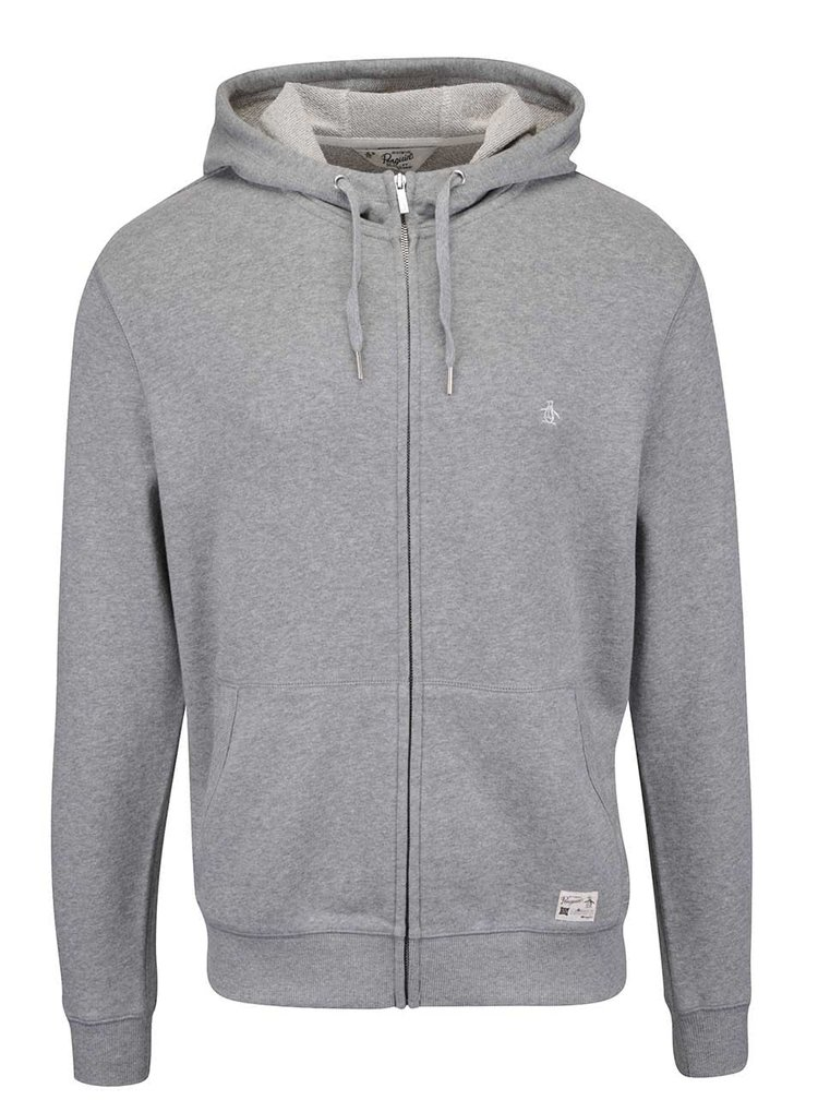 Hanorac gri Original Penguin Saddle Hoody
