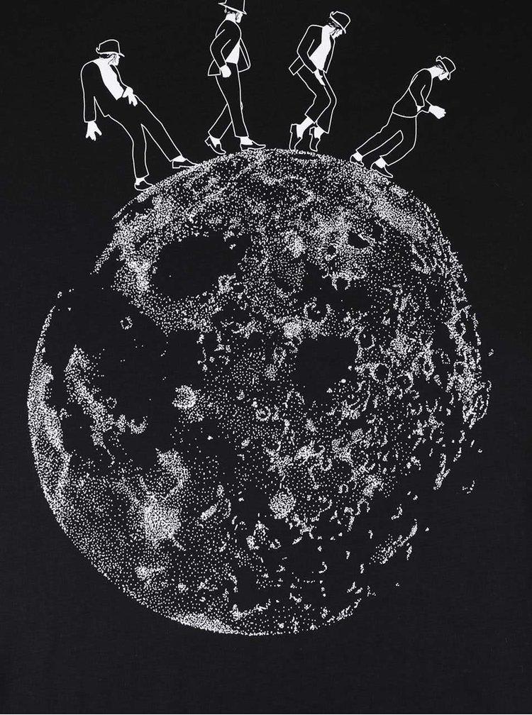 Čierne pánske tričko ZOOT Originál Moonwalk