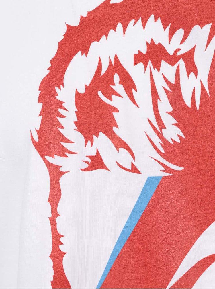 Biele pánske tričko s potlačou ZOOT Originál Bowie